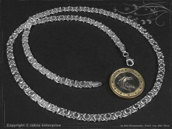 Königskette Flach B4.6L85 massiv 925 Sterling Silber