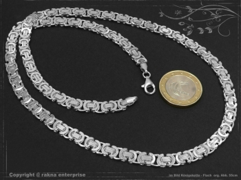 Königskette Flach B6.0L75 massiv 925 Sterling Silber