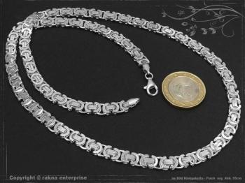 Königskette Flach B6.0L85 massiv 925 Sterling Silber