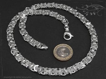 Königskette Flach B9.0L75 massiv 925 Sterling Silber