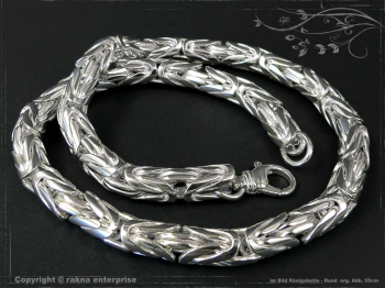Königskette Rund B10.0L80 massiv 925 Sterling Silber