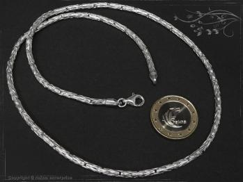Königskette Rund B3.0L85 massiv 925 Sterling Silber