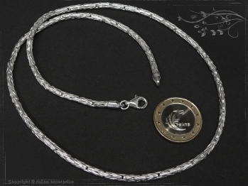 Königskette Rund B3.0L75 massiv 925 Sterling Silber