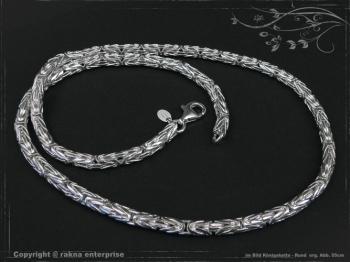 Königskette Rund B4.0L70 cm massiv 925 Sterling Silber