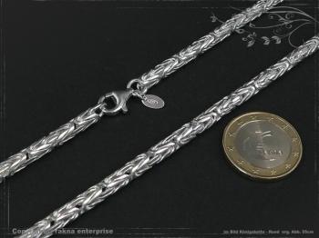 Königskette Rund B4.0L45 cm massiv 925 Sterling Silber