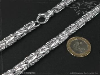 Königskette Rund B8.0L50 massiv 925 Sterling Silber