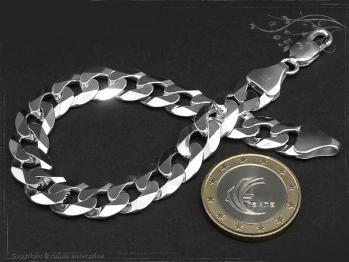 Panzerarmband B10.0L21 massiv 925 Sterling Silber