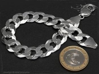 Panzerarmband B12.0L17 massiv 925 Sterling Silber