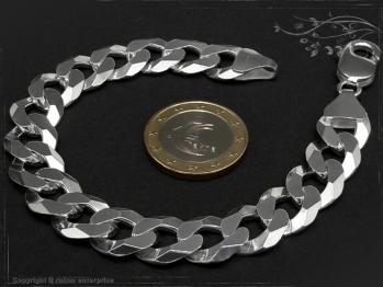Panzerarmband B12.0L18 massiv 925 Sterling Silber