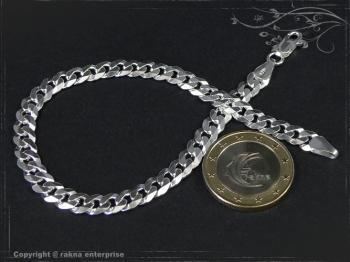 Panzerarmband B6.0L25 massiv 925 Sterling Silber