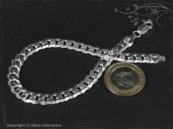 Panzerarmband B7.5L20 massiv 925 Sterling Silber