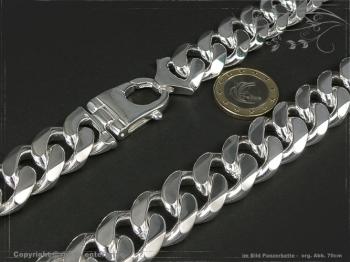 Panzerkette Extra Breit B19.0L65 massiv 925 Sterling Silber
