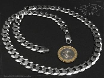 Panzerkette B10.0L100 cm massiv 925 Sterling Silber