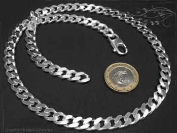 Panzerkette B8.0L60 massiv 925 Sterling Silber