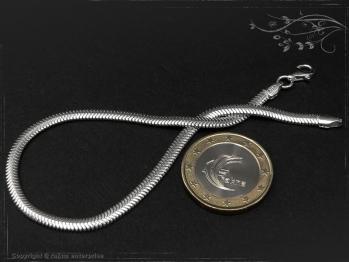 Schlangenkette Armband oval D3.5L18 massiv 925 Sterling Silber