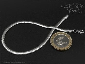 Schlangenkette Armband oval D3.5L22 massiv 925 Sterling Silber
