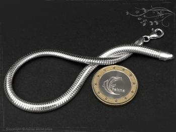 Schlangenkette Armband oval D4.5L18 massiv 925 Sterling Silber