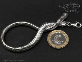 Schlangenkette Armband oval D6.0L18 massiv 925 Sterling Silber
