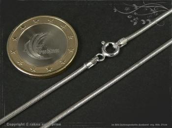 Schlangenkette Armband D1.6L25 massiv 925 Sterling Silber