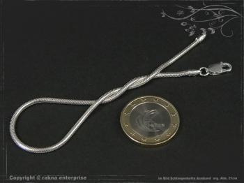 Schlangenkette Armband D2.0L22 cm massiv 925 Sterling Silber