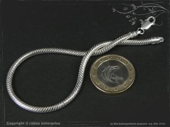 Schlangenkette Armband D3.0L24 cm massiv 925 Sterling Silber