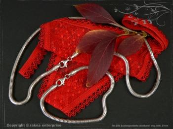 Schlangenkette Armband D4.0L18 massiv 925 Sterling Silber