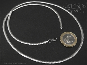 Schlangenkette oval D3.5L75 massiv 925 Sterling Silber