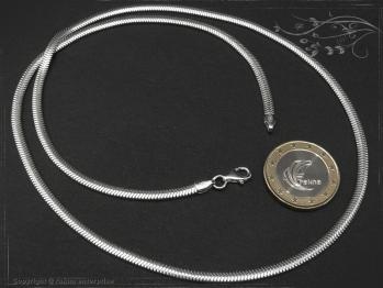 Schlangenkette oval D3.5L40 massiv 925 Sterling Silber