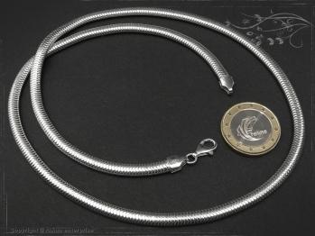 Schlangenkette oval D4.5L65 massiv 925 Sterling Silber