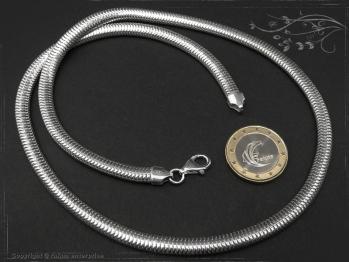 Schlangenkette oval D6.0L65 massiv 925 Sterling Silber