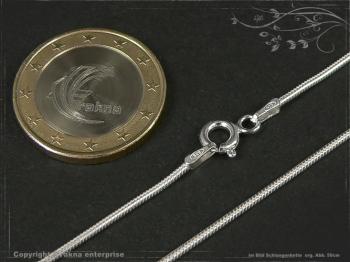 Schlangenkette D1.2L65 massiv 925 Sterling Silber
