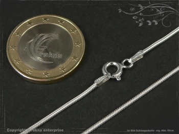 Schlangenkette D1.2L40 massiv 925 Sterling Silber