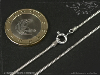 Schlangenkette D1.4L55 massiv 925 Sterling Silber