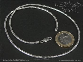 Schlangenkette D2.2L55 massiv 925 Sterling Silber