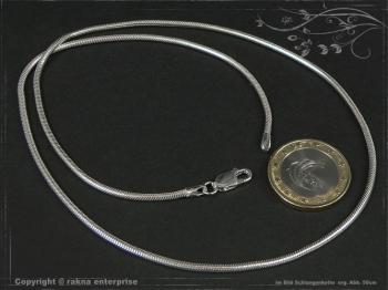 Schlangenkette D2.0L85 massiv 925 Sterling Silber
