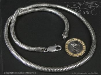 Schlangenkette D5.0L55 massiv 925 Sterling Silber