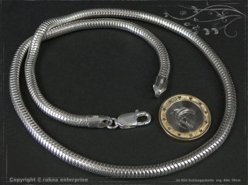Schlangenkette D5.0L85 massiv 925 Sterling Silber