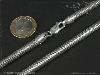 Schlangenkette D6.0L90 massiv 925 Sterling Silber