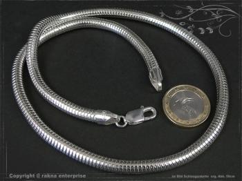 Schlangenkette D6.0L85 massiv 925 Sterling Silber
