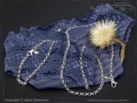 Silberkette Erbsenkette Armband B4.0L23