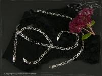 Figaro-Curb Chain Bracelet B4.5L18