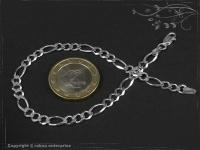 Figaro-Curb Chain Bracelet B4.5L21