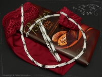 Design Armband Keramik-Edelstahl weiß 23cm
