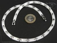 Collier Halskette Keramik- Edelstahl weiß 42cm