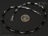 Collier Halskette Keramik- Edelstahl schwarz 42cm