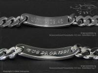 Curb Chain ID-Bracelet  B12.5L22
