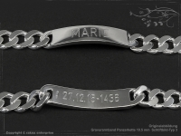 ID Panzerarmband Gravur-Platte B10.5L17