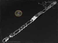 ID Figaroarmband Gravur-Platte B10.0L24