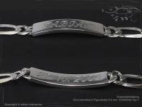 ID Figaroarmband Gravur-Platte B8.0L24