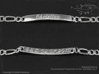 ID Figaroarmband Gravur-Platte B5.5L23